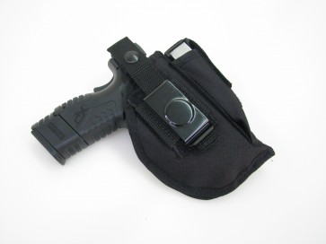 Ambidextrous Belt Clip Pistol Holster with Magazine Pouch - 300BP
